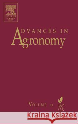 Advances in Agronomy Donald L. Sparks 9780120007813