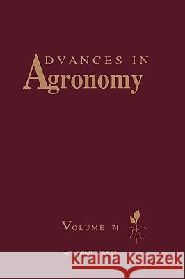 Advances in Agronomy Donald L. Sparks 9780120007929