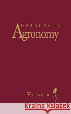 Advances in Agronomy Donald L. Sparks 9780120007981