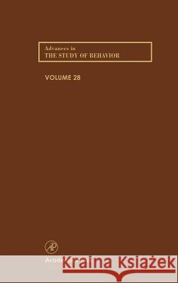 Advances in the Study of Behavior P. J. B. Slater Jay S. Rosenblatt Charles T. Snowdon 9780120045280