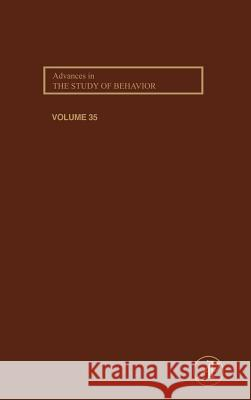 Advances in the Study of Behavior Peter J. B. Slater Charles T. Snowdon Timothy J. Roper 9780120045358
