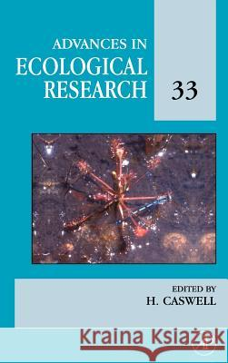 Advances in Ecological Research Carlos Fernandez Garcia Hal Caswell H. Caswell 9780120139330
