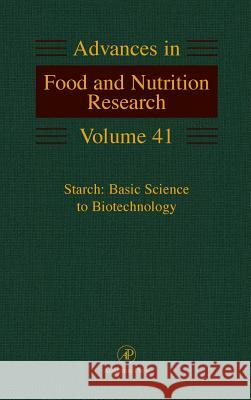 Starch: Basic Science to Biotechnology Sivak                                    Mirta Sivak Bennett 9780120164417