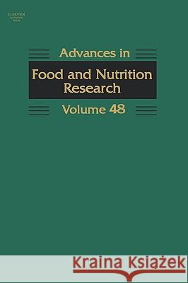 Advances in Food and Nutrition Research Steve Taylor 9780120164493