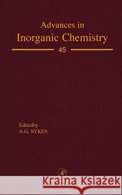 Advances in Inorganic Chemistry A. G. Sykes AG Sykes 9780120236459