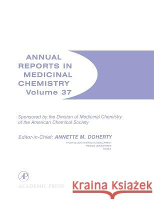 Annual Reports in Medicinal Chemistry Annette M. Doherty 9780120405374