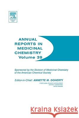 Annual Reports in Medicinal Chemistry Annette Doherty Annette M. Doherty 9780120405398