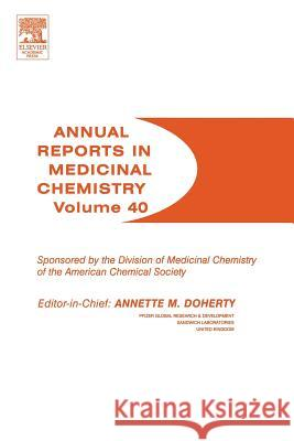 Annual Reports in Medicinal Chemistry Annette M. Doherty 9780120405404