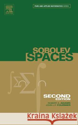 Sobolev Spaces Robert Adams John Fournier 9780120441433