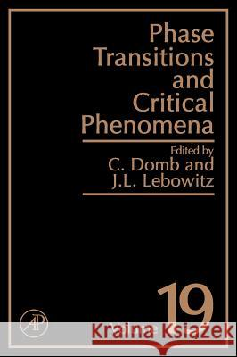 Phase Transitions and Critical Phenomena C. Domb Cyril Domb Giola Ghezzi 9780122203190