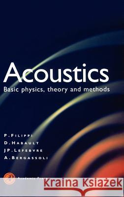 Acoustics: Basic Physics, Theory, and Methods Paul Filippi -. Koike Tohyam Paul Fillippi 9780122561900