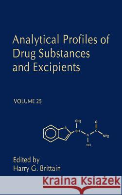 Analytical Profiles of Drug Substances and Excipients Harry G. Brittain Thomas O. Baldwin John N. Abelson 9780122608254