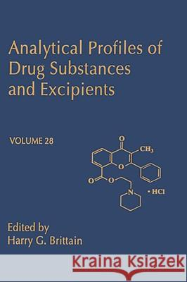 Analytical Profiles of Drug Substances and Excipients Harry G. Brittain 9780122608285
