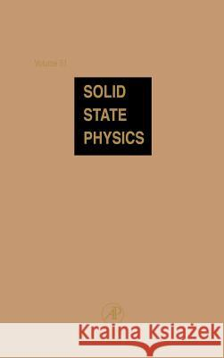 Solid State Physics Henry Ehrenreich Frans Spaepen 9780126077513