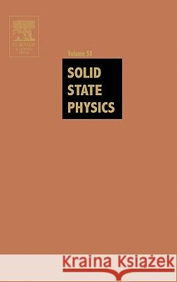 Solid State Physics Henry Ehrenreich Frans Spaepen 9780126077582