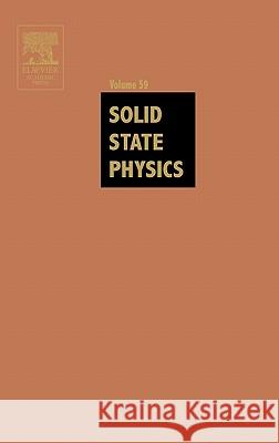Solid State Physics Henry Ehrenreich Frans Spaepen 9780126077599