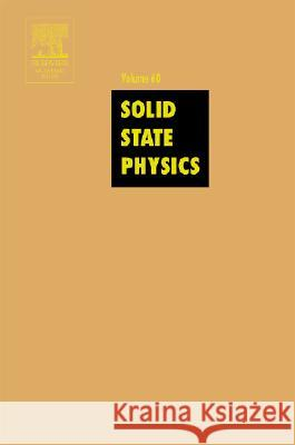 Solid State Physics Henry Ehrenreich Frans Spaepen 9780126077605