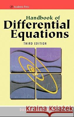 Handbook of Differential Equations Daniel Zwillinger 9780127843964
