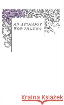 Apology for Idlers Stevenson Robert Louis 9780141043968 0