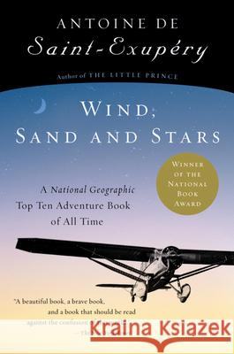Wind, Sand and Stars Antoine de Saint-Exupery 9780156027496