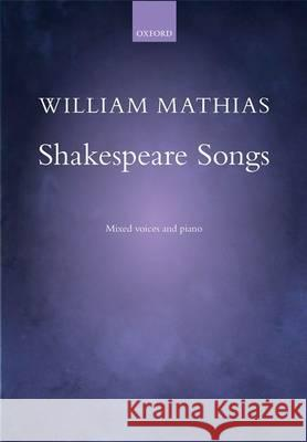 Shakespeare Songs Vocal Score  9780193411906