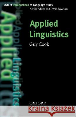 Applied Linguistics H. G. Widdowson Guy Cook 9780194375986