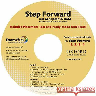 Step Forward Test Generator Series Director Jayme Adelson-Goldstein  Jayme Adelson-Goldstein 9780194398572 Oxford University Press, USA