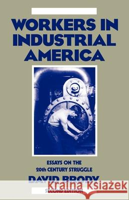 Workers in Industrial America: Essays on the Twentieth Century Struggle David Brody David Brody 9780195045048