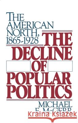 The Decline of Popular Politics: The American North, 1865-1928 Michael McGerr 9780195054248
