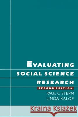 Evaluating Social Science Research Paul C. Stern Linda Kalof 9780195079708