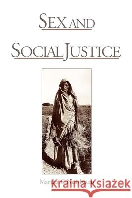 Sex and Social Justice Martha Craven Nussbaum 9780195112108 Oxford University Press