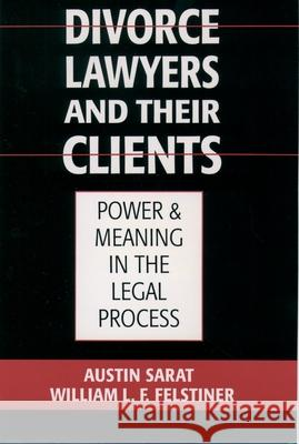 Divorce Lawyers and Their Clients : Power and Meaning in the Legal Process Austin Sarat William L. F. Felstiner 9780195117998