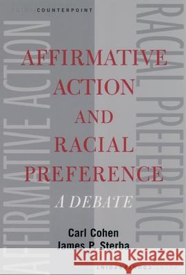 Affirmative Action and Racial Preference Carl Cohen James P. Sterba 9780195148954