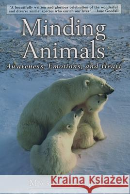 Minding Animals : Awareness, Emotions, and Heart Marc Bekoff Jane Goodall Jane Goodall 9780195150773 Oxford University Press