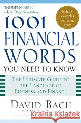 1001 Financial Words You Need to Know David Bach Erin McKean 9780195170504