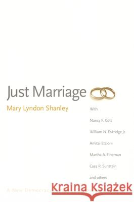Just Marriage Mary Lyndon Shanley 9780195176261