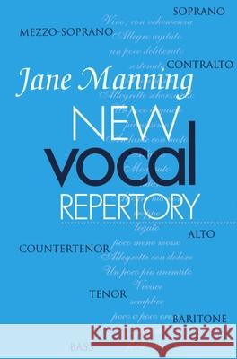New Vocal Repertory : An Introduction Jane Manning 9780198164135