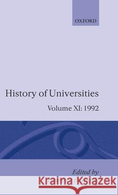 History of Universities: 1992 Laurence Brockliss Brockliss 9780198220015