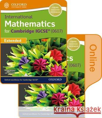 International Maths for Cambridge Igcse Print & Online Student Book Jim Fensom David Rayner  9780198417866