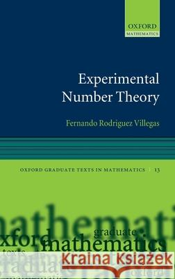 Experiment Number Theory  9780198528227