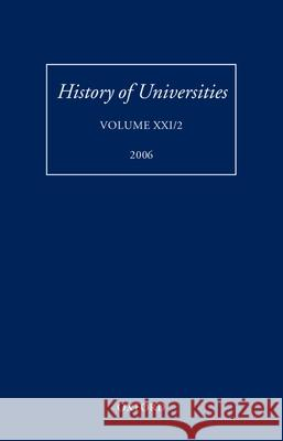 History of Universities: Volume XXI/2 Mordechai Feingold 9780199206858