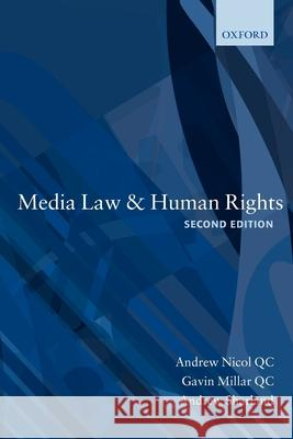 Media Law and Human Rights  Nicol 9780199217502