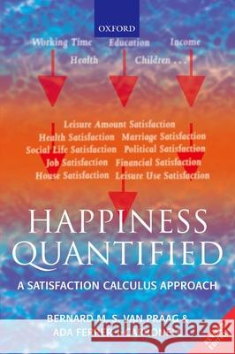 Happiness Quantified: A Satisfaction Calculus Approach Bernard Va Ada Ferrer-i-Carbonell 9780199226146