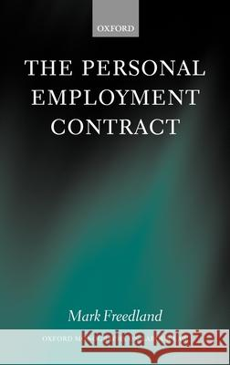 The Personal Employment Contract Mark Freedland 9780199249268