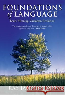 Foundations of Language: Brain, Meaning, Grammar, Evolution Ray Jackendoff 9780199264377