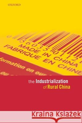 The Industrialization of Rural China Chris Bramall 9780199275939