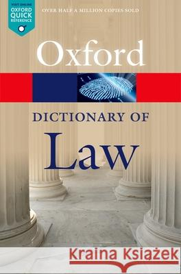 A Dictionary of Law Jonathan Law 9780199664924