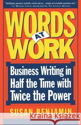 Words at Work Susan Benjamin 9780201154849