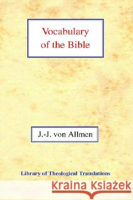 Vocabulary of the Bible Jean-Jaques Vo 9780227171844