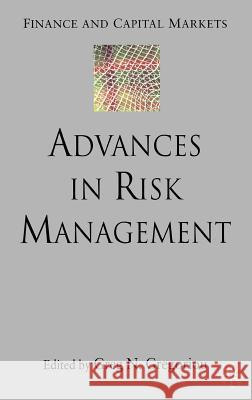Advances in Risk Management Greg N. Gregoriou 9780230019164